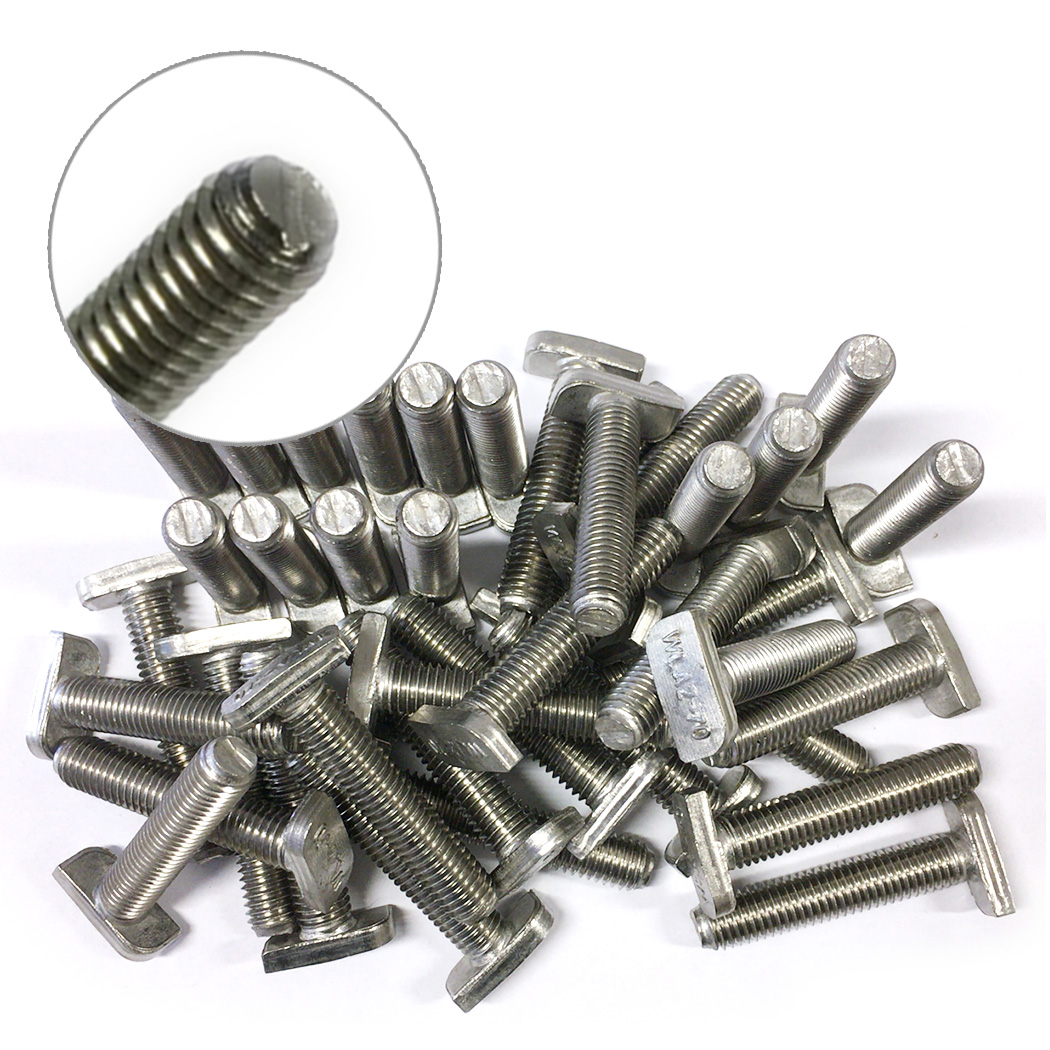 10 Stück Hammerkopfschrauben-Sets M8x50mm Profil A
