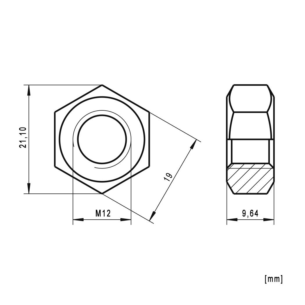 Muttern M8x35 Edelstahl A2 Festigkeitsklasse 70 50x Sechskantschrauben