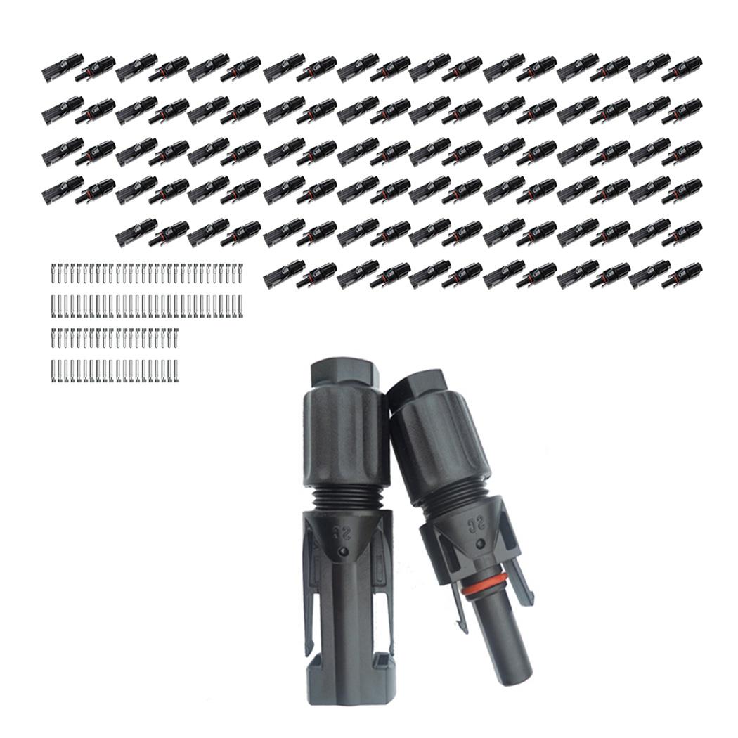 50x Paire MC4 Prise 1-1 Connecteur Solaire Douille Résistant UV H4 Amphenol